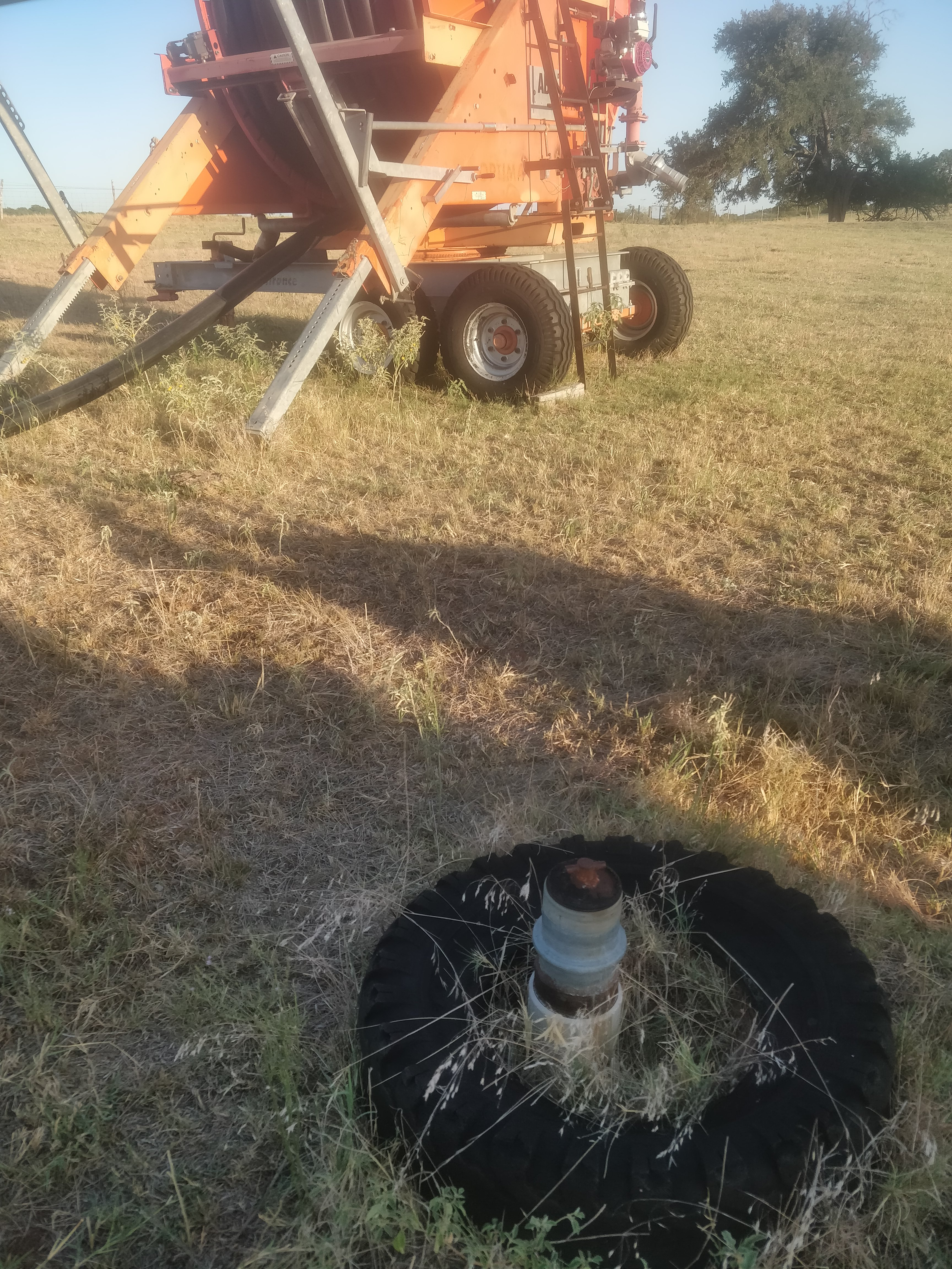 irrigation reel and riser