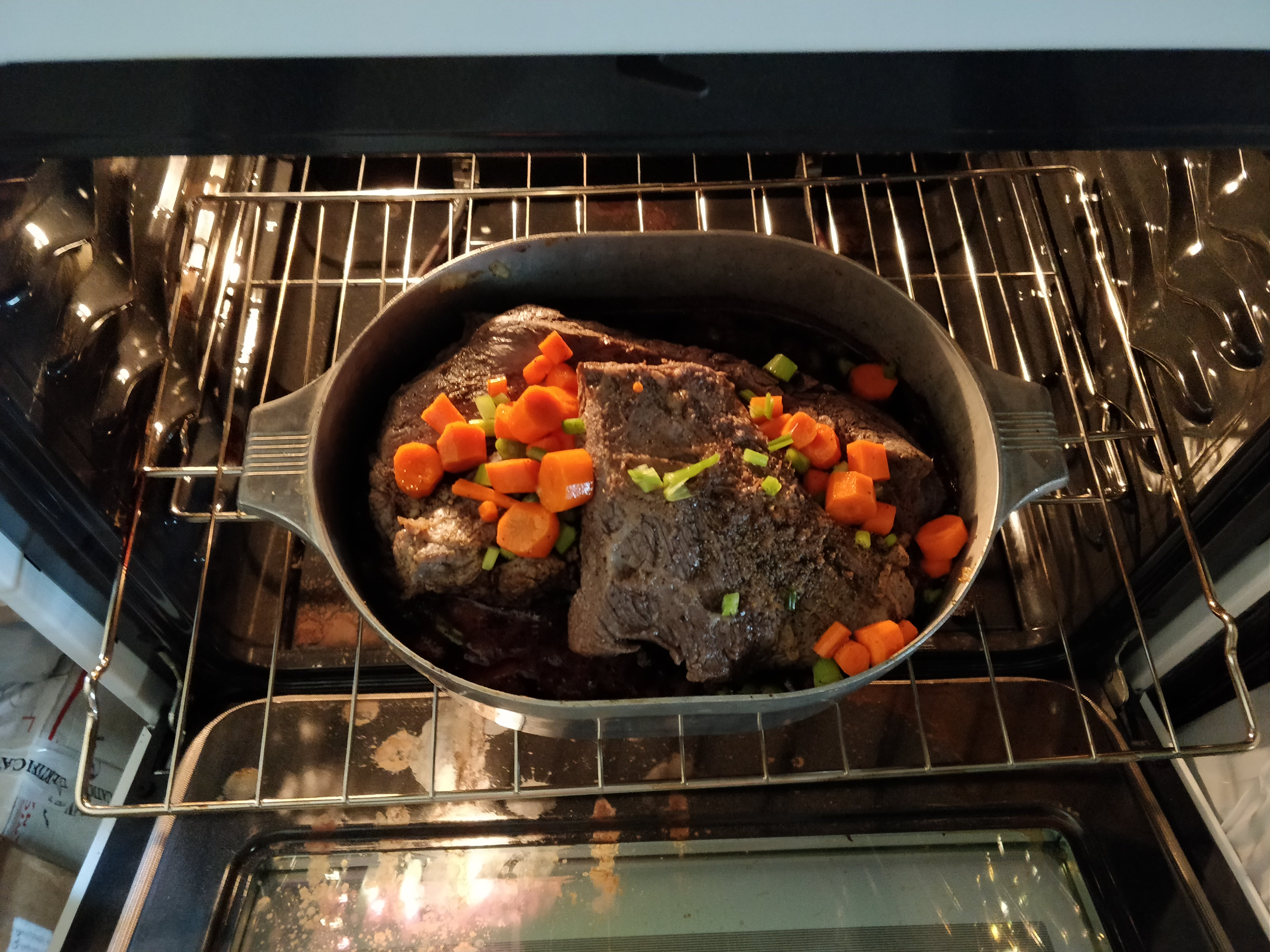 One of our roasts in pot in oven
